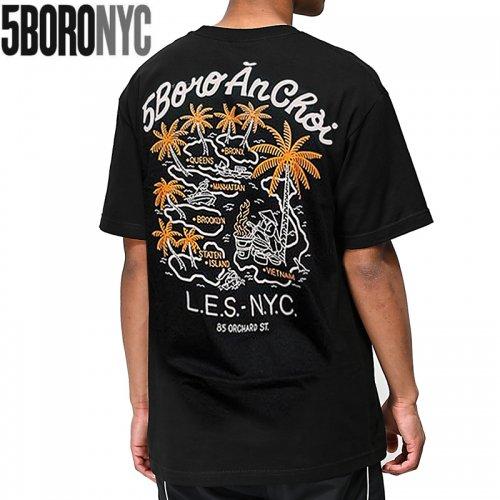 【ファイブボロ 5BORO スケボー Tシャツ】AN CHOI TEE【ブラック】NO4