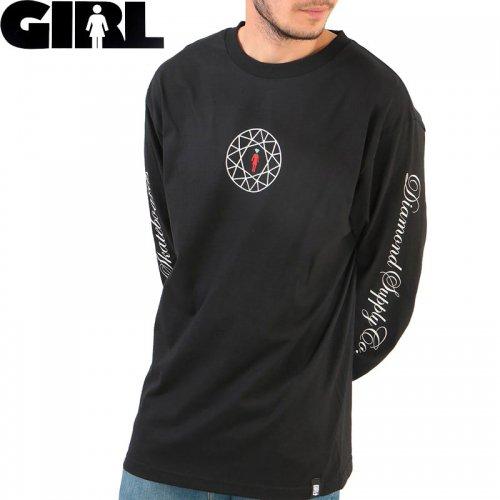 【GIRL ガールスケートボード ロング Tシャツ】DIAMOND SUPPLY CO. SIMPLICITY SCRIPT L/S TEE【ブラック】NO15