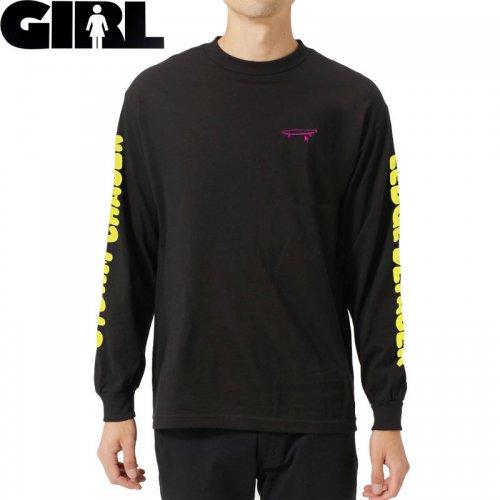 【GIRL ガールスケートボード ロング Tシャツ】CRAILTAP DEFACER L/S TEE【ブラック】NO20