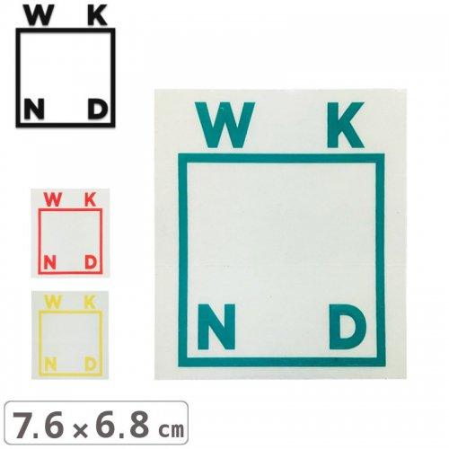 【ウィークエンド WKND スケボー ステッカー】LOGO STICKER【7.6cm x 6.8cm】NO4