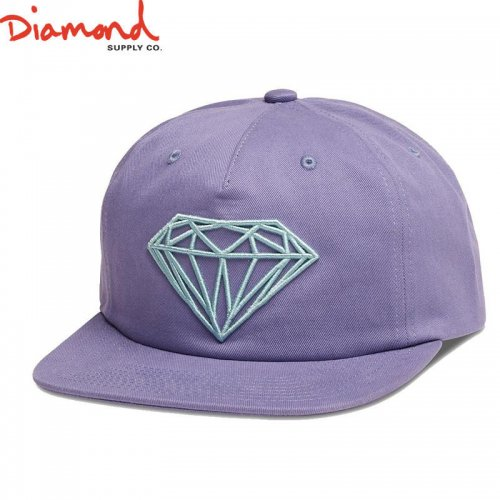 【DIAMOND SUPPLY ダイアモンドサプライ キャップ】BRILLIANT UNCONSTRUCTED SNAPBACK FL17【パープル】NO88