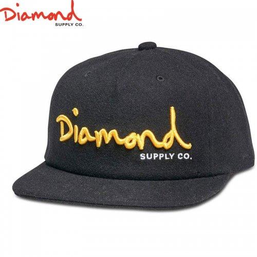 【DIAMOND SUPPLY ダイアモンドサプライ キャップ】OG SCRIPT UNCONSTRUCTED SNAPBACK HO17【ブラック】NO91