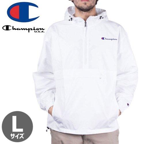 【CHAMPION チャンピオン スポーツ アウター】PACKABLE JACKET V1012 USAモデル パッカブルジャケット【ホワイト】NO2
