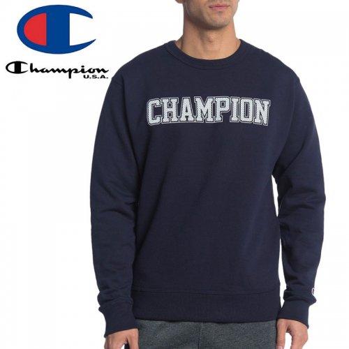 【CHAMPION チャンピオン スウェット】CADET D-RING CREW MESH-EFFECT LOGO GF88H Y07420 USAモデル トレーナー【ネイビー】NO13