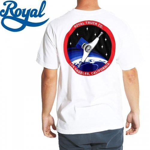 【ロイヤル ROYAL TRUCKS スケボー Tシャツ】CADET TEE【ホワイト】NO57