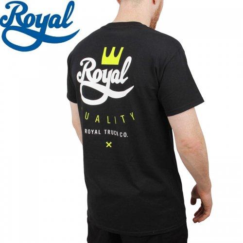 【ロイヤル ROYAL TRUCKS スケボー Tシャツ】QUALITY TEE【ブラック】NO58