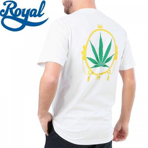 【ロイヤル ROYAL TRUCKS スケボー Tシャツ】マリファナ CHRONIC TEE【ホワイト】NO61