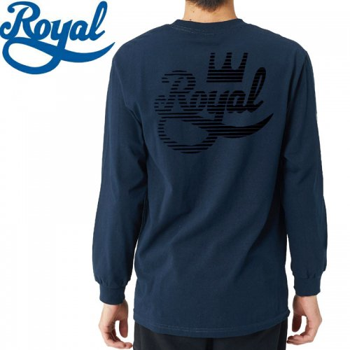 【ロイヤル ROYAL TRUCKS スケボー ロンT】BRUISER L/S TEE【ネイビー】NO6