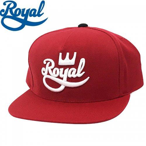 【ロイヤル ROYAL TRUCKS スケボー キャップ】CLASSIC SNAPBACK HAT【レッド】NO14