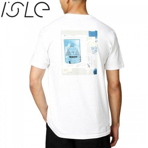 【ISLE アイル スケボー Tシャツ】THEORIOSITIES COLLAB TEE【ホワイト】NO5