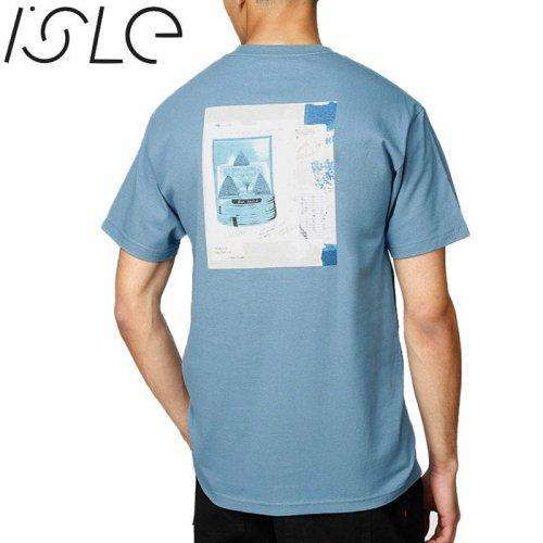【ISLE アイル スケボー Tシャツ】THEORIOSITIES COLLAB TEE【スレートブルー】NO6
