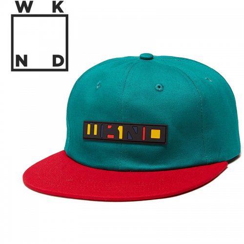【ウィークエンド WKND スケボー キャップ CAP】SALSA HAT【ピーコックグリーン】NO9