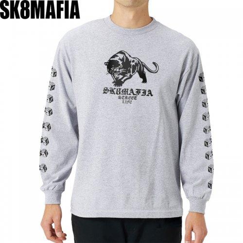 【スケートマフィア SK8MAFIA スケボー ロングTシャツ】STREETLIFE L/S TEE【ヘザーグレー】NO4