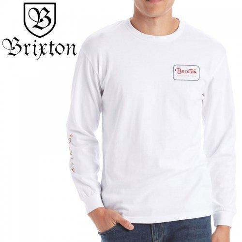【BRIXTON ブリクストン スケボー ロンT】GRADE IV LONGSLEEVE TEE【ホワイト】NO1