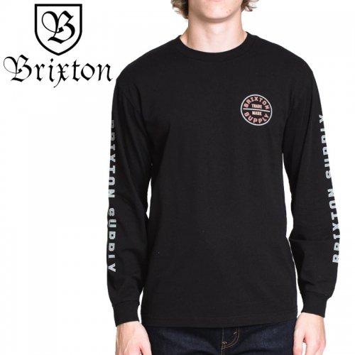 【BRIXTON ブリクストン スケボー ロンT】OATH IV LONGSLEEVE TEE【ブラック】NO2