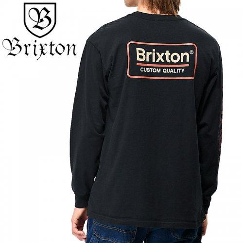 【BRIXTON ブリクストン スケボー ロンT】PALMER II LONGSLEEVE TEE【ブラック】NO3