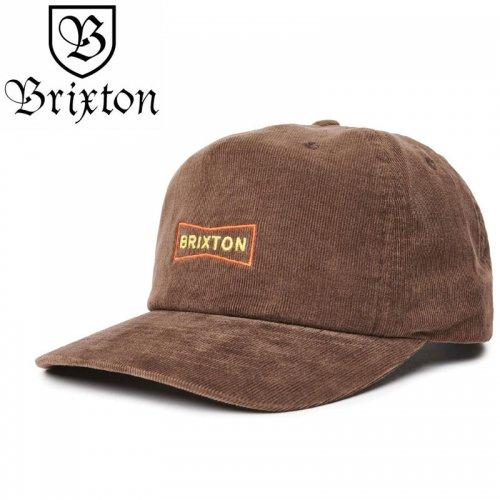 【BRIXTON スケボー キャップ】WEDGE MP SNAPBACK HAT【バイソンブラウン】NO38