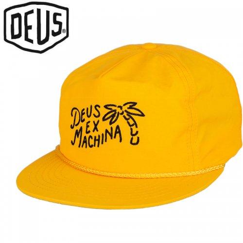 USA正規品【DEUS EX MACHINA デウス バイク サーフ キャップ 帽子】HOLIDAY CAP【ゴールデンイエロー】NO23