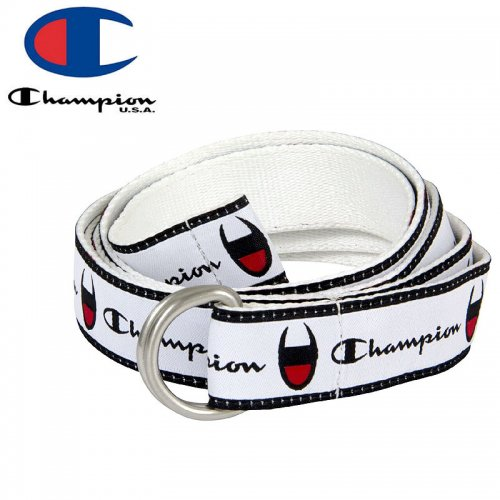 【CHAMPION チャンピオン ベルト】CADET D-RING BELT ホワイト NO2