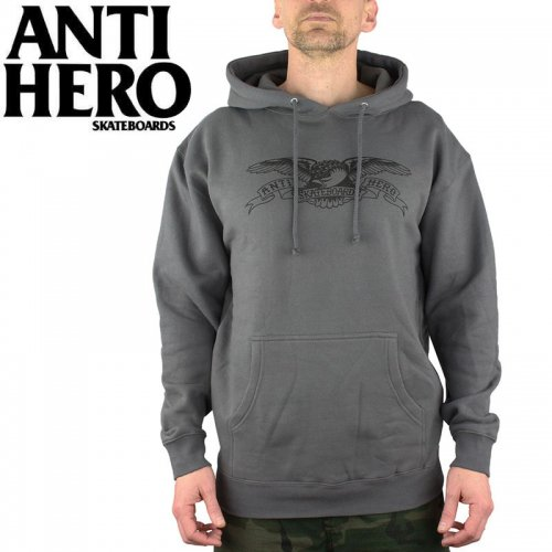 【ANTI HERO アンチヒーロー パーカー】BASIC EAGLE PULLOVER HOODIE【チャコールグレー】NO10