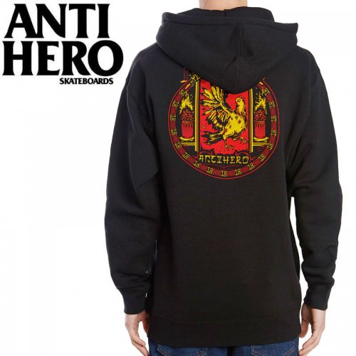 【ANTI HERO アンチヒーロー パーカー】YEAR OF THE PIGEON PULLOVER HOODIE【ブラック】NO15