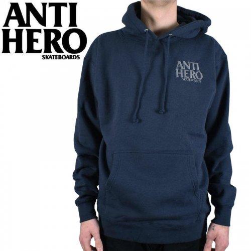 【ANTI HERO アンチヒーロー パーカー】LIL BLACK HERO EMBROIDERY PULLOVER HOODIE【ネイビー】NO16