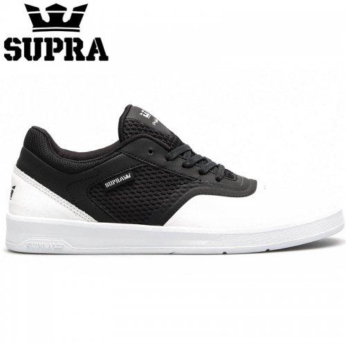 【SUPRA スープラ スケート シューズ】SAINT WHITE/BLACK-WHITE レザー【ホワイト】NO2