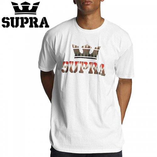 【SUPRA スープラ スケボー Tシャツ】ABOVE TEE WHITE/MULTI TEE【ホワイト】NO2