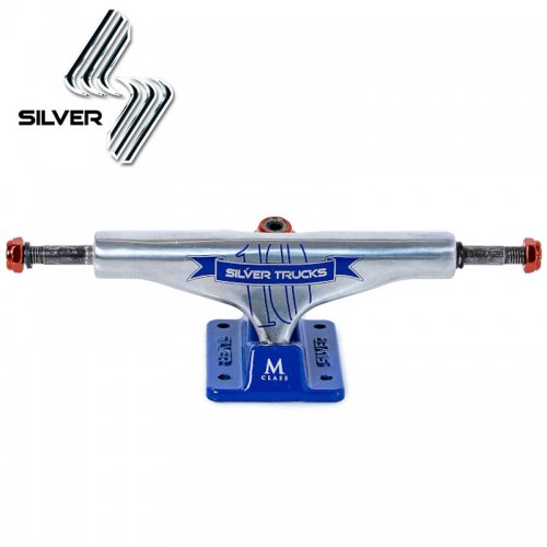 【シルバー SILVER スケボー トラック】M-CLASS HOLLOW 10 YEARS BLUE【8.0】【8.25】NO16
