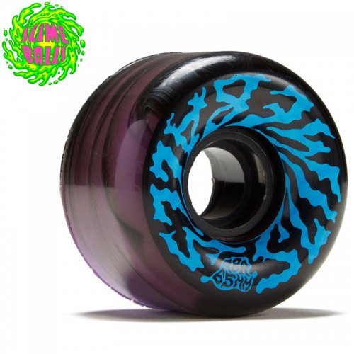 【SANTA CRUZ サンタクルーズ ウィール】SLIME BALLS SWIRLY 78A WHEEL BLACK/PURPLE【65mm】NO4