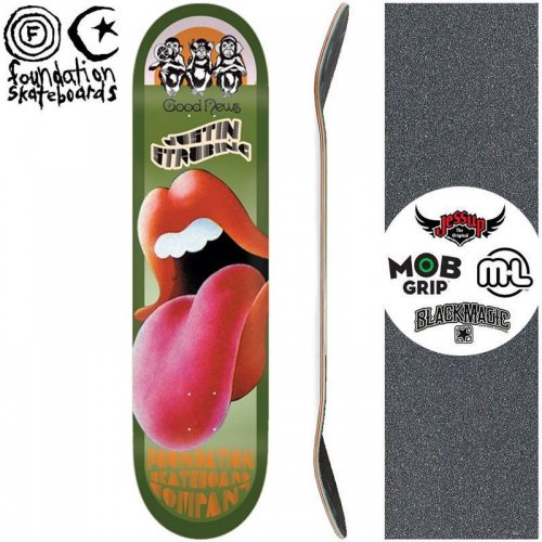 【ファンデーション FOUNDATION スケボー デッキ】JUSTIN STRUBING GOOD NEWS REISSUE DECK【8.5インチ】NO56