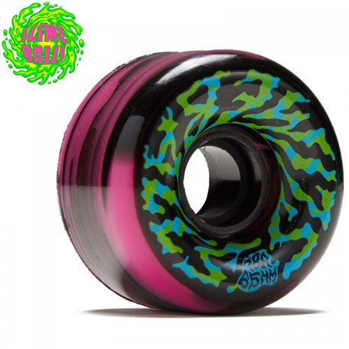 【SANTA CRUZ サンタクルーズ ウィール】SLIME BALLS SWIRLY 78A WHEEL BLACK/PINK【65mm】NO6