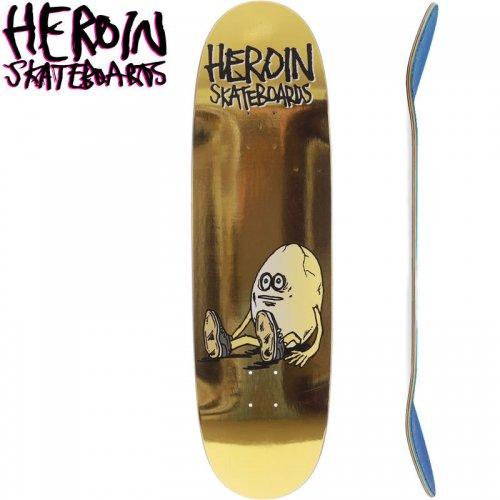 【HEROIN SKATEBOARDS ヘロイン デッキ】GOLDEN EGG SHAPED DECK【9.125インチ】NO46