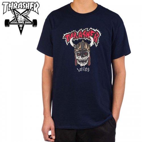 【スラッシャー THRASHER Tシャツ】LOTTIES T-SHIRT ネイビー NO120