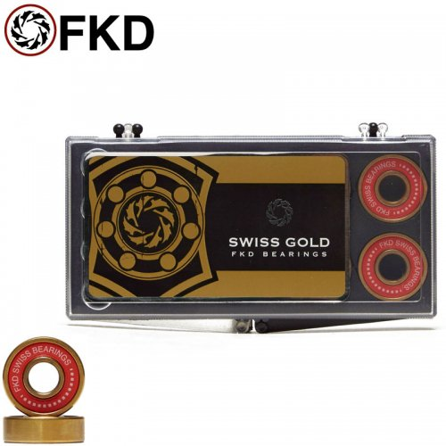 【FKD スケボー ベアリング】SWISS GOLD BEARINGS ABEC7相当 NO15