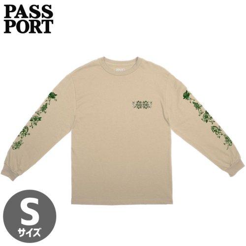 【PASS~PORT パスポート スケボー ロング Tシャツ】FLORAL FRIENDS L/S TEE【サンド】NO2