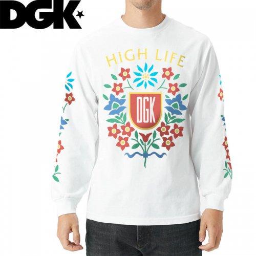 【DGK ディージーケー スケボー ロンT】HIGH LIFE LS TEE【ホワイト】NO1