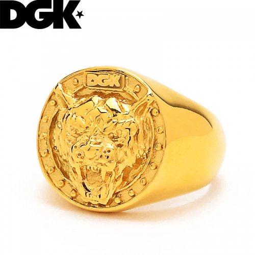 【ディージーケー DGK スケボー 小物 アクセサリー】BIG CAT RING ゴールド 指輪【9号】【10号】NO6