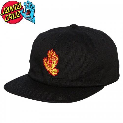 【サンタクルーズ SANTA CRUZ キャップ】FLAME HAND SNAPBACK HAT ブラック NO39