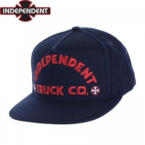 【インディペンデント INDEPENDENT キャップ】ITC BOLD SNAPBACK CAP ネイビー NO60