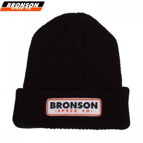 【ブロンソン BRONSON スケボー ニットキャップ】BSC PATCH BEANIE ブラック NO3