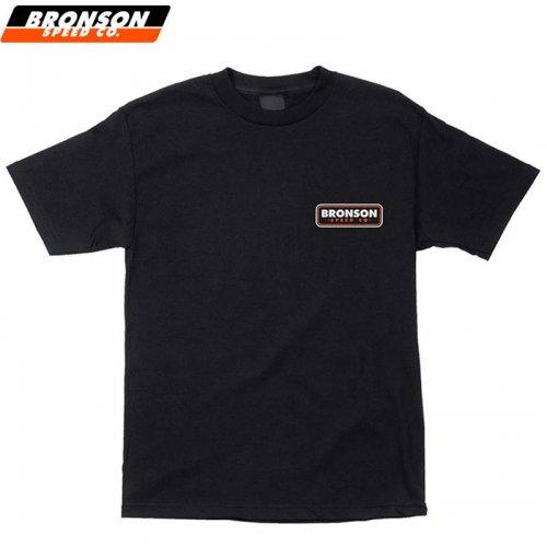 【BRONSON SPEED CO ブロンソン スケボー Tシャツ】PATCH REGULAR TEE ブラック NO5