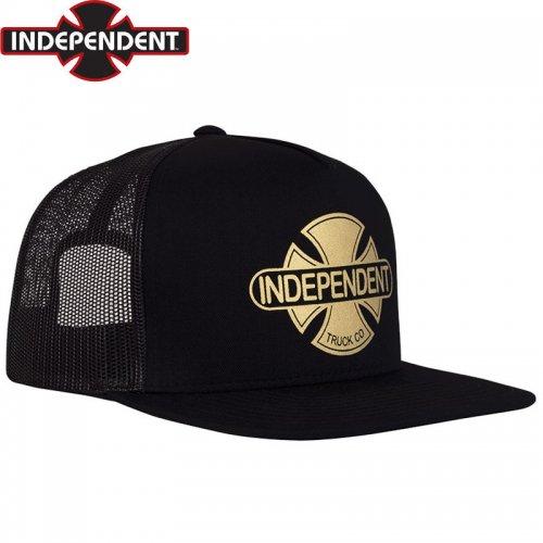 【インディペンデント INDEPENDENT キャップ】BASEPLATE MESH TRUCKER CAP ブラック×ゴールド NO64