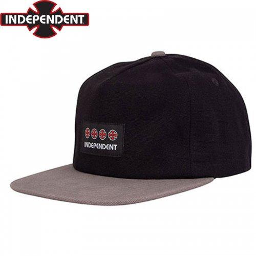 【インディペンデント INDEPENDENT キャップ】MANNER UNSTRUCTURED CAP ブラック×チャコール NO66
