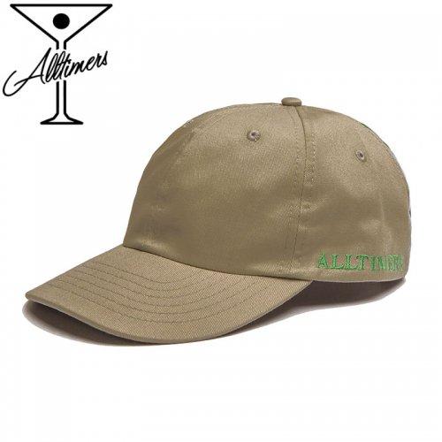 【ALLTIMERS オールタイマーズ スケボー キャップ】LINED UP HAT ベージュ NO13