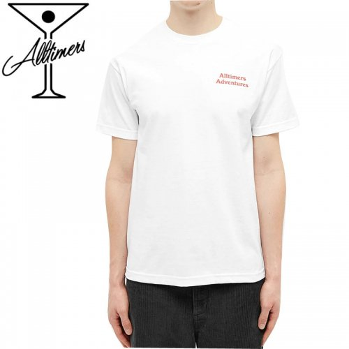 【ALLTIMERS オールタイマーズ スケボー Tシャツ】ADVENTURES TEE ホワイト NO12