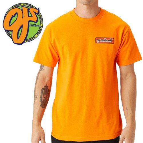 【オージェイ OJ3 スケボー Tシャツ】TWO TONE SS TEE オレンジ NO2