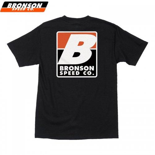 【BRONSON SPEED CO ブロンソン スケボー Tシャツ】BIG B REGULAR TEE ブラック NO8