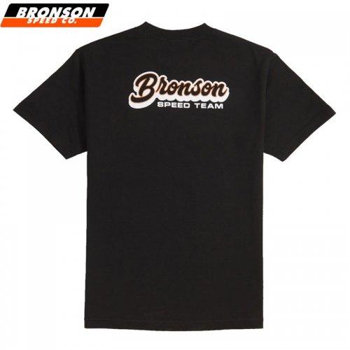 【BRONSON SPEED CO ブロンソン スケボー Tシャツ】SPEED TEAM REGULAR TEE ブラック NO10