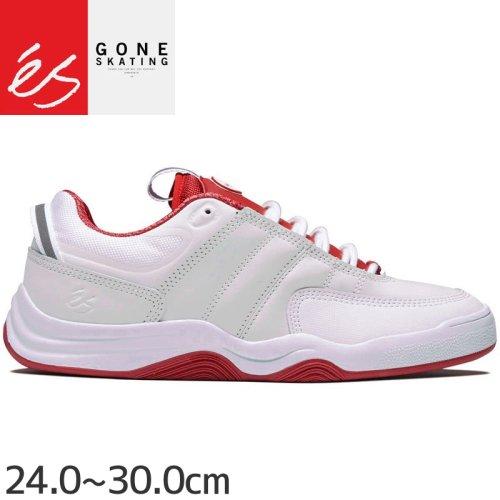 【エス ES FOOTWEAR スケートシューズ スニーカー】EVANT WHITE RED スエード NO119